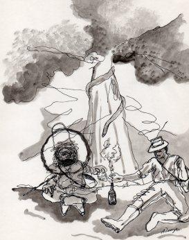 """Dibujos del Maestro Alfonso Renza para """"El Chamán Paez"""""""