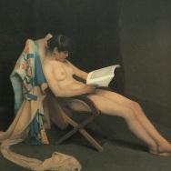 Muchacha leyendo. Théodore Roussel (1886-1887).