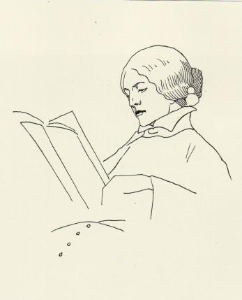 Martha Vogeler. Heinrich Vogeler. Hacia 1905).