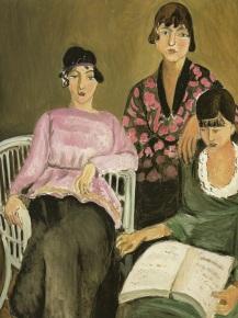Las tres hermanas. Henri Matisse (1917).