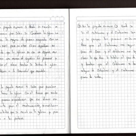 Diario de campo de Andrés Males y Julián Baquero