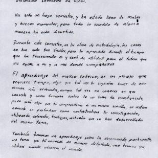 Carta de Gabriel Pizo, página 1