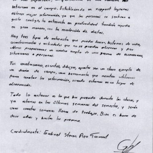 Carta de Gabriel Pizo, página 2