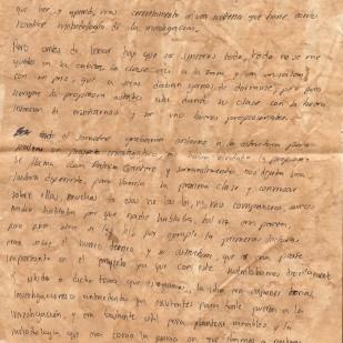 Carta de Julián Baquero, página 1