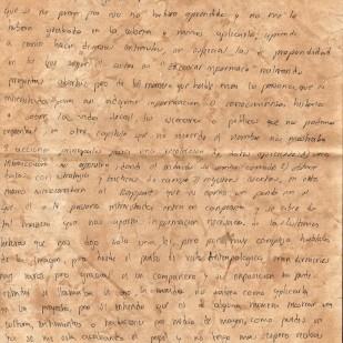 Carta de Julián Baquero, página 2