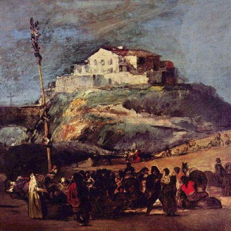 La Cucaña de Francisco de Goya