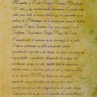 Carta de Paula Narváez, página 1