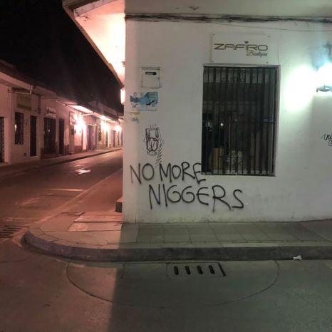 Racismo_Popayan. Fuente Pelos de Resistecia, Facebook