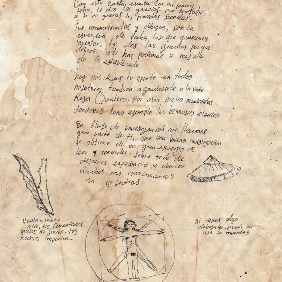 Carta de Sebastián Agredo